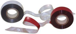 Отпугивающая светоотражающая лента красно-серебристая