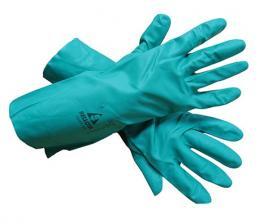 Перчатки зеленый хим.нитрил Bellota 72171