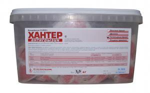 АНТИГРЫЗУН Хантер приманка для грызунов тесто-сырный  3кг