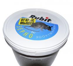Rubit Зоокумарин+ зерно от грызунов 4кг