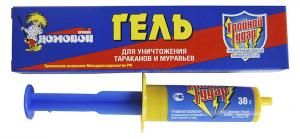 Домовой Прошка Тройной Удар гель от тараканов и муравьев 30мл