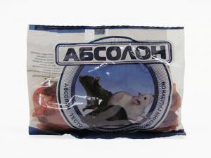 Абсолон тесто-брикет приманка для грызунов 100гр